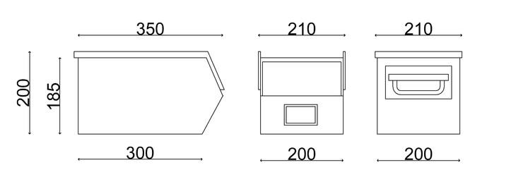 Cassette Fami per minuteria pesante usate a bocca di lupo in metallo