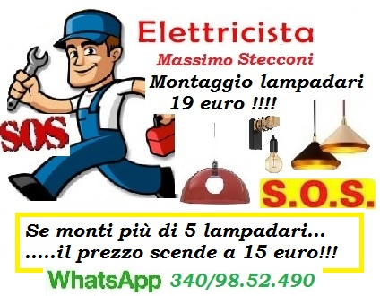 Elettricista lampadario e applique
