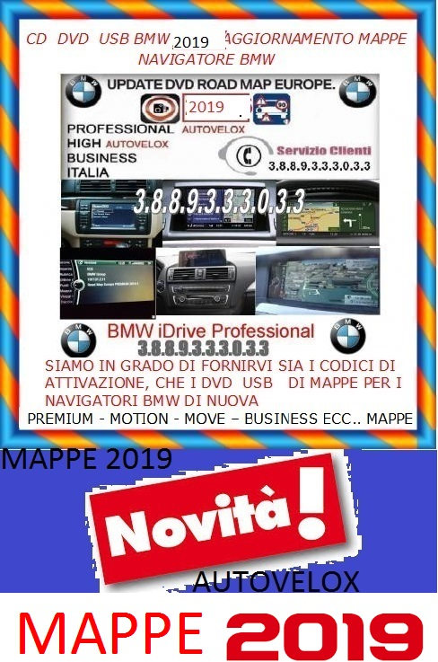 MAPPE BMW  PROFESSIONAL-BUSINESS-HIGH-MOTION-PREMIUM- MOVE- ECC.. AUTOVELOX Antichitá 3