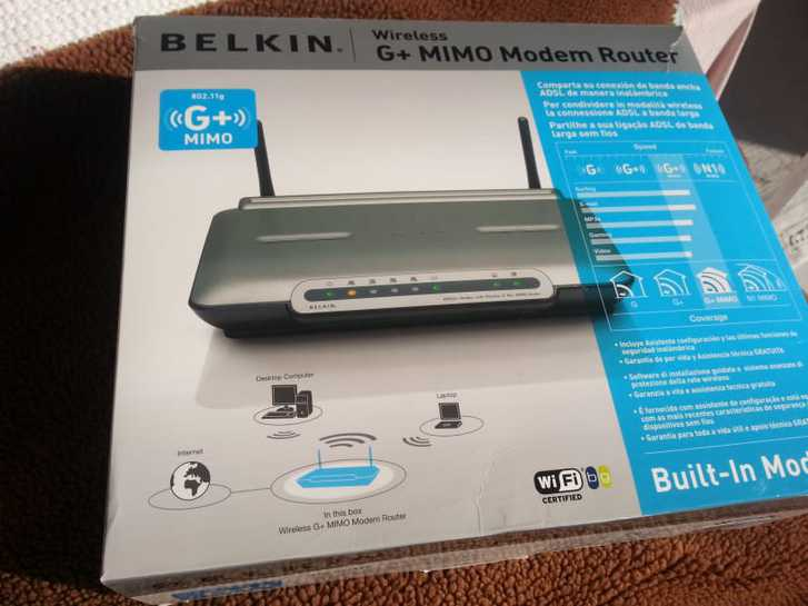 Modem Belkin  adsl2+ wireless