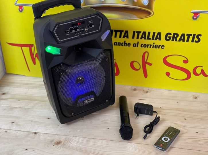 NUOVA CASSA KARAOKE🎶 2000W 1MICROFONO senza filo  A SOLI 80 euro  SPEDIZIONI GRATUITA IN TUTTA ITALIA🇮🇹 PAGAMENTO ALLA CONSEGNA🚚