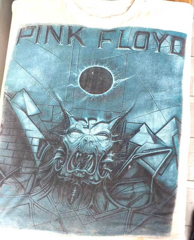 T Shirt Pink Floyd The Division Bell Tour 1994 ricordo del concerto dei Pink Floyd  a Torino il 15 settembre 1994