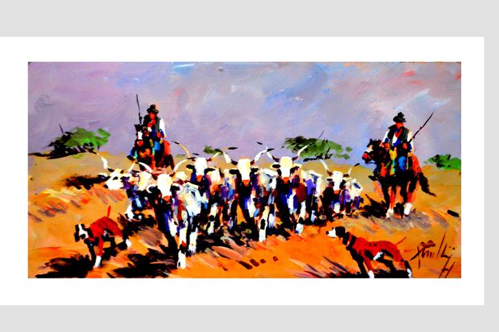 TORRE DEL LAGO  dipinto da Mario Rombolini