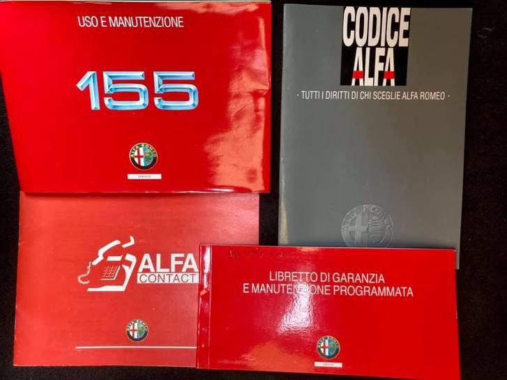 libretto di manutenzione alfa 155