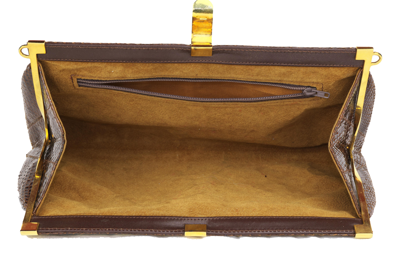 pochette borsa in vera pelle di pitone