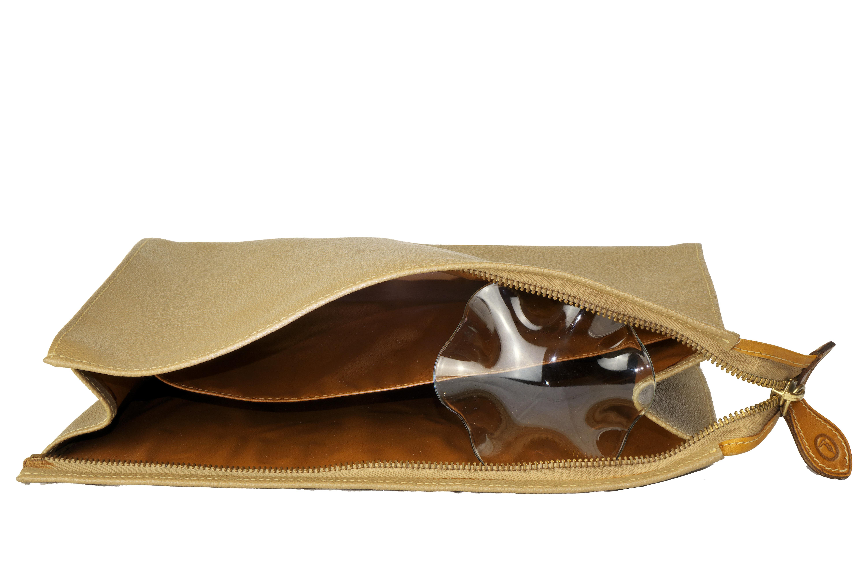 pochette borsa trussardi in pelle marrone