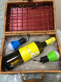 Cestino regalo vino+lampadine